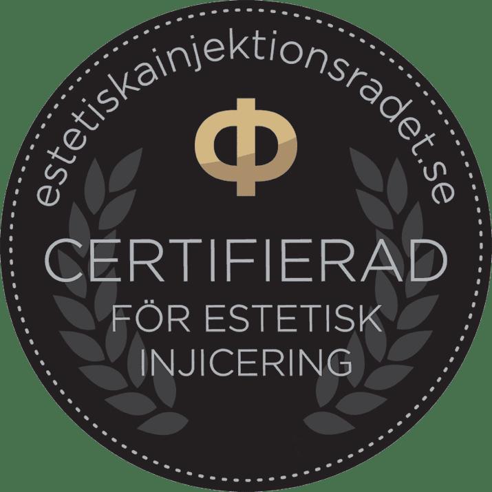 Certifiering för estetisk injicering